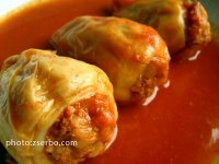 Stuffed peppers in tomato juice
